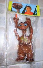 Vintage 1983 E.T. THE EXTRA TERRESTRIAL Eyes & Finger Light Up Vinyl Figure MIP