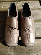 HOTTER LADIES BROWN LEATHER SHOES, SIZE UK 6.5 - NEW