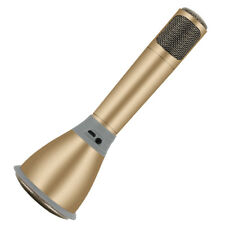 K068 Wireless Microphone with Mic Speaker Condenser Mini Karaoke Player-Gold