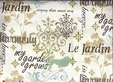 Le Jardin Garden Bird curtain valance