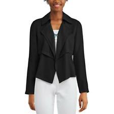 Bar Iii Womens Black Open Front Lightweight Trench Jacket Coat S Bhfo 7071