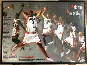 1999-2000 Arizona Wildcats Basketball Signed Poster Richard Jefferson and Wright