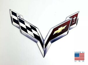 "1975-1976 Corvette Emblem Free Standing Heavy Gauge Metal 14/"" Sign 631312"