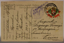 POSTA MILITARE 10 TIMBRO SEZIONE PANETTIERI CON FORNI WEISS 23.6.1918 #XP334E