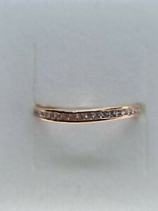 100% Genuine 9ct Rose Gold CZ Ring Ideal for Stacking Size O