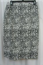 Bar III Skirt Sz XL Snow White Black Textured Stretch Knit Career Pencil Skirt