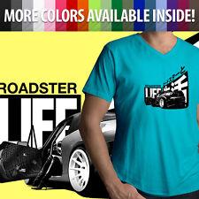 Roadster Life Japanese Mazda Miata MX5 NB NA Mazdaspeed Mens Tee V-Neck T-Shirt
