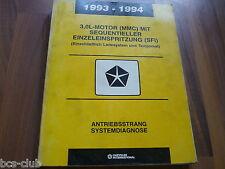 #J095 CHRYSLER DODGE ALLE MOTOR 3,0 1993 1994 System Diagnose WERKSTATT HANDBUCH
