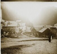 Village IN Montagne Francia Suisse Foto PL53L2n24 Stereo Placca Da Lente Vintage
