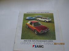Introducing the New Pacer & 1975 AMC passenger cars  American Motors brochure