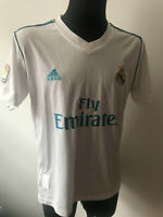 OFFICIAL REAL MADRID 2017 2018 HOME FOOTBALL FAN JERSEY SHIRT M ADIDAS SPAIN