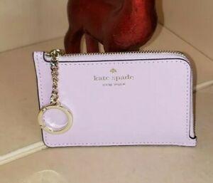 NWT:  Kate Spade Medium L-Zip Card Holder Kali Quartz Pink (WLR00295).