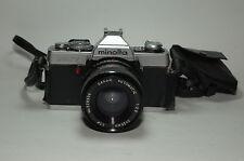 MINOLTA XG7 FILM CAMERA W/ SAKAR AUTOMATIC 28MM F2.8 LENS for parts or repair