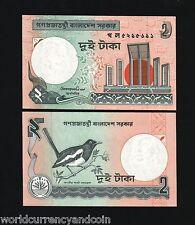 BANGLADESH 2 TAKA P6C 1988 BUNDLE BIRD UNC CURRENCY MONEY BILL LOT 100 BANK NOTE