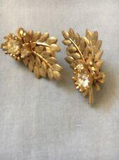 Vintage Sarah Covington Earrings Gold Tone-Clip On