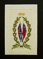 1915 WW1 Silk Postcard Barter The Rise Road Sunningdale Ascot Berkshire