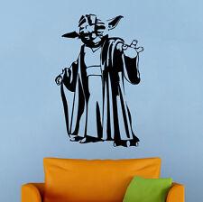 Star Wars Yoda Wall Decal Jedi Master Vinyl Sticker Wall Art Murals Decor 33sw
