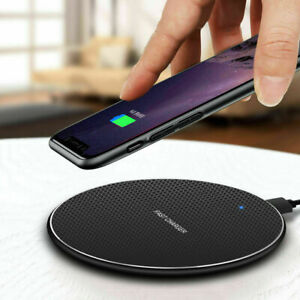 Qi Wireless Charger Fast Charge Pad For Samsung For iPhone XS Max X XR 12 11 Pro