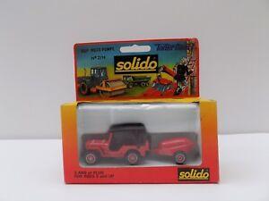 SOLIDO 2114 TONER GAM 1 JEEP MOTO POMPE MINT BOXED