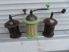 Lot kaffeemuhle coffee grinder Ancien Moulin à cafe Peugeot type G bois tole