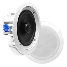 Pyle - PDIC80T - In-Wall / In-Ceiling Dual 8-inch 2-Way Speakers - White (Pair)