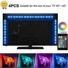4Pcs USB Powered RGB 5050 LED Strip Lighting for TV Computer Background Light US