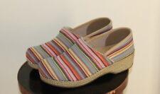 Dansko Vegan Artisan Woven Espadrilles-Inspired Clogs Shoes -Sz 39