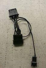 3-Pin Male Fan to 2x 4-Pin Molex (1x Male, 1x Female) Power Fan Cable Adapter