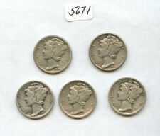 1930 To 1931PDS (#5671). All VF-XF or Better. 1931-D is Cleaned. Carefully Check