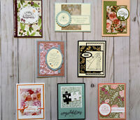8 Handmade Wedding Anniversary greeting cards envelopes Stampin' Up! +more