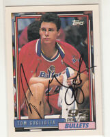 TOM GUGLIOTTA 1992-93 Topps Draft Pick #258 Rookie Bullets In Person Auto Mint