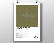 Starflyer 59 - Gold - Minimal Poster Illustration Shoegaze Vinyl Ride Slowdive