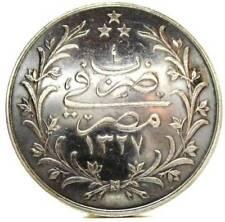 EGYPT (Egitto) Silver,5 Qirsh AH 1327/4 (1911)