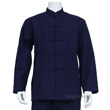100% Cotton Shaolin Kung fu Jacket Martial arts Top Tai Chi Wing Chun Coat