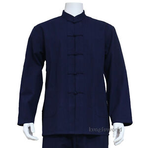 Pure Cotton Shaolin Kung fu Jacket Martial arts Top Tai Chi Wing Chun Coat