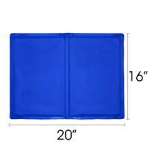 "16""x20"" Cooling Mat Pet Cooler Pad Pet Dog Crate Bed Kennel Blue, By Free Paws"