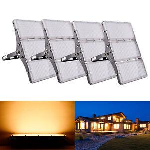 4X 300W LED Modul Fluter Flutlicht Aussen Strahler Licht SMD Warmweiß Ultradünn
