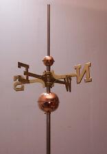 Full weathervane set-up/ 2''&4' ' polished Copper Balls,Brass Directionals,rod,