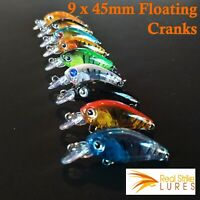 9 x Bream Fishing Lures Flathead Trout Bream Saltwater Lure Lot Tackle