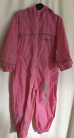 REGATTA ALL IN ONE PUDDLE SUIT WATERPROOF BREATHABLE 24-33 Months PINK
