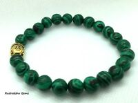 MALACHITE BUDDHA REIKI CHARGED ELASTICATED MALA BEADS BRACELET HEART CHAKRA YOGA