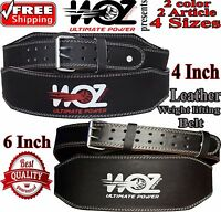Leather Weight lifting gym bodybuilding back support belt