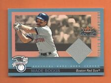 2002 FLEER FALL CLASSICS WADE BOGGS GAME-USED JERSEY #SOC-WB BOSTON RED SOX
