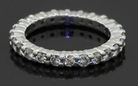 Platinum elegant high fashion 1.25CT diamond eternity band ring size 5.5