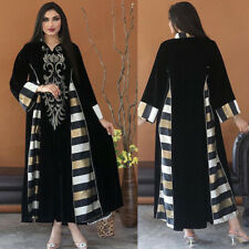 Indian/Pakistani Clothing Women's Velvet Long Sleeve Kaftan Abaya Maxi Dresses