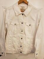 Levi Strauss & Co Levi's Women's Denim Jacket Button Front White Size XL