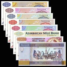 Azerbaijan set 8 PCS notes, (1 5 10 50 100 250 500 1000 Manat), P-13-19, 23, UNC