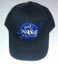 Adjustable Black NASA Insignia Embroidered Baseball Cap Astronaut Costume Hat