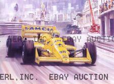 Racing drawing Ayrton Senna 1987 Honda auto auto ca 8 x 10 print prent poster