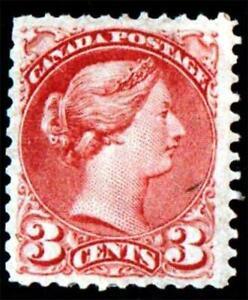 CANADA.1870.OTTAWA.ROSE MINT.MOUNTED HINGED. #39a